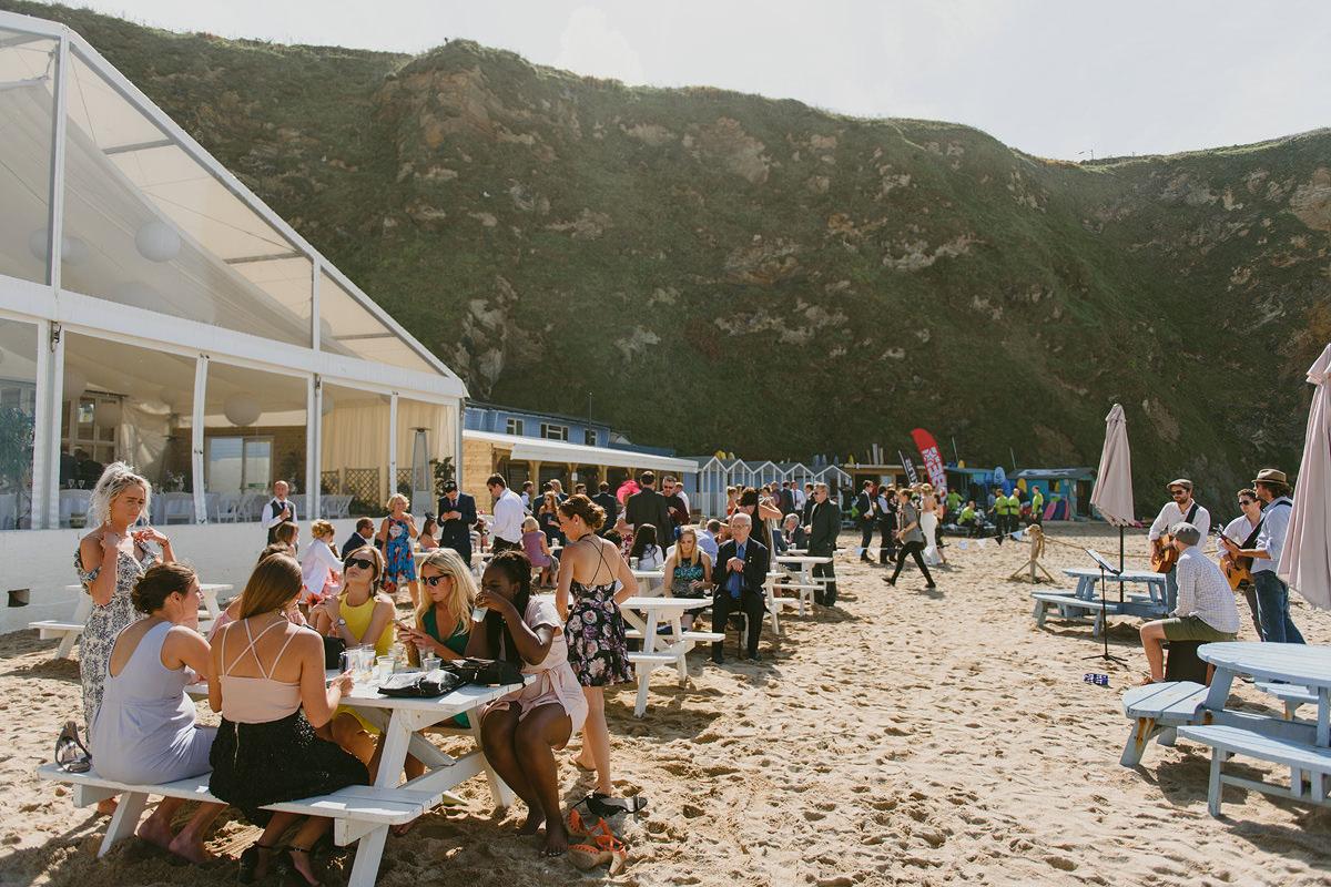 Lusty Glaze beach wedding