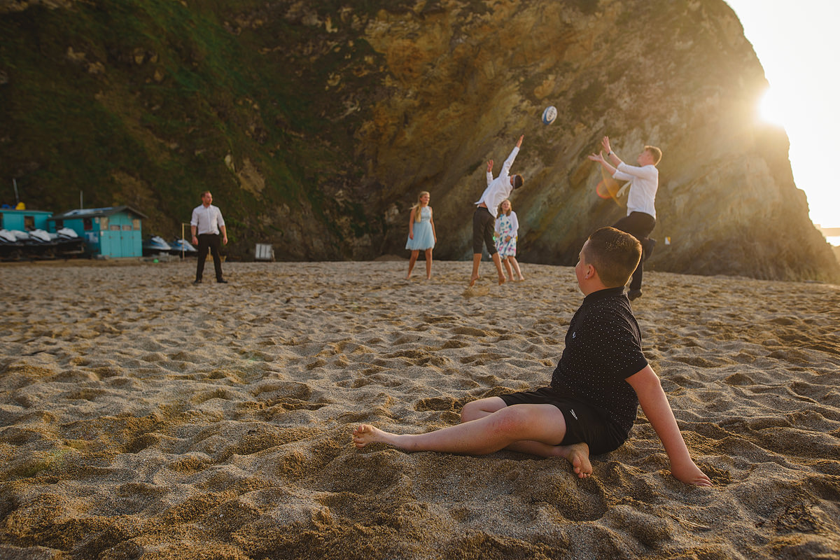 Beach games at a Lusty wedding in Newquay