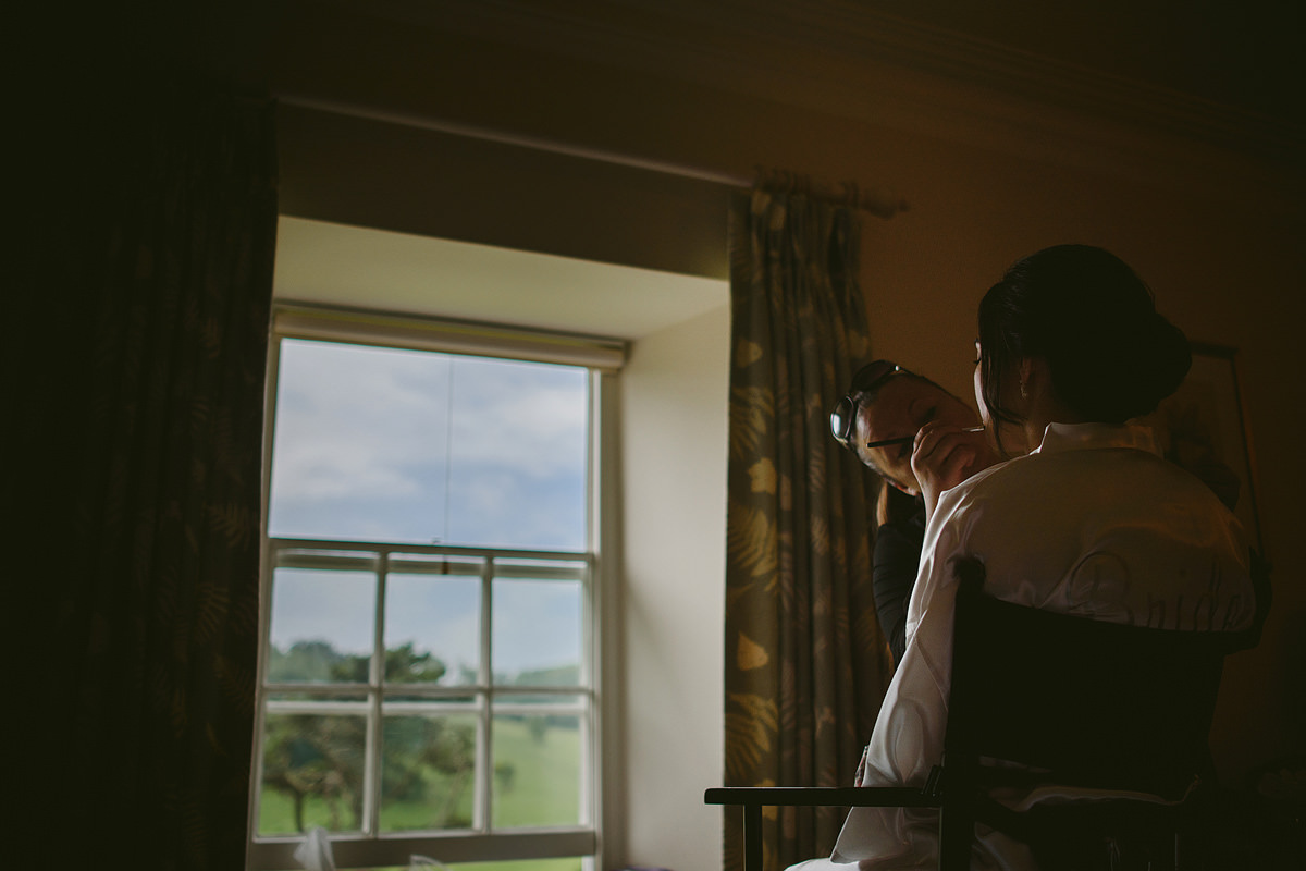 Bridal preparations at Pamflete House in Devon