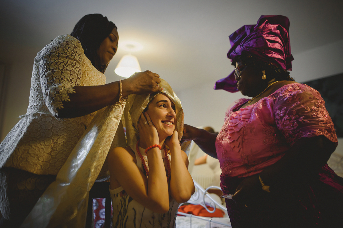 Nigerian bride preparations
