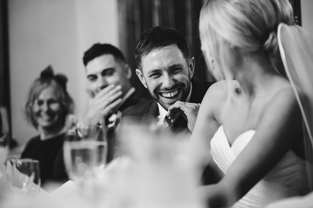 Groom reaction to father of the bride speech