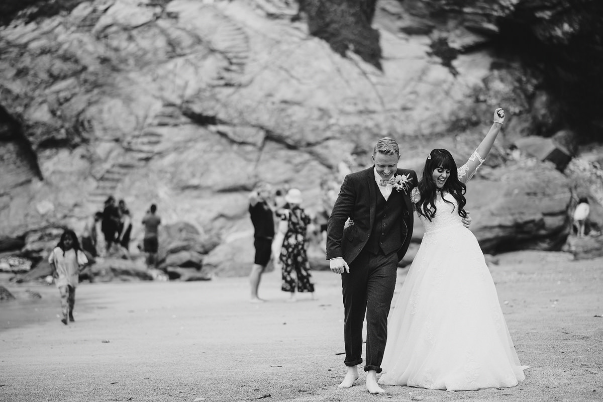 Lusty glaze beach Cornwall wedding
