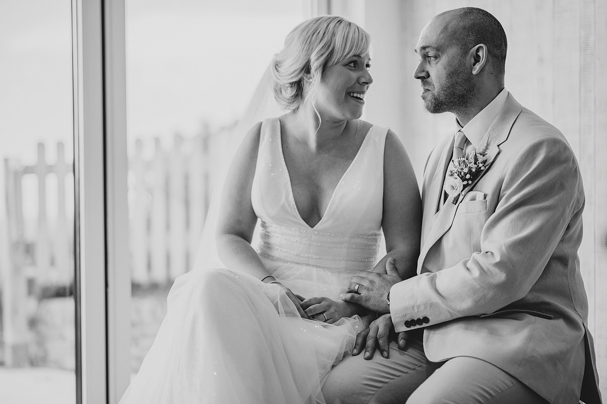 Emotional groom at Watergate Bay wedding