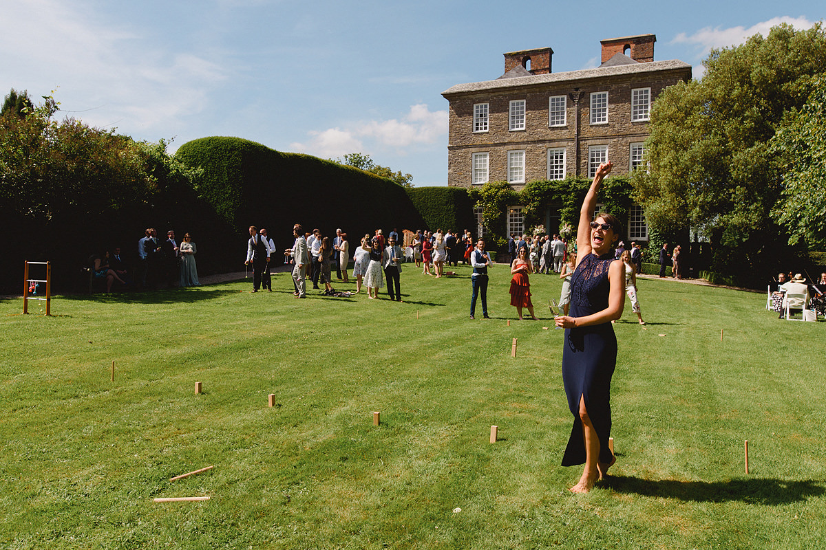 Lawn games at Kingston Estate