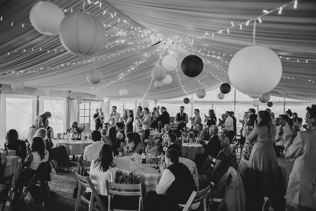 Speeches at Cornish Tipi Weddings