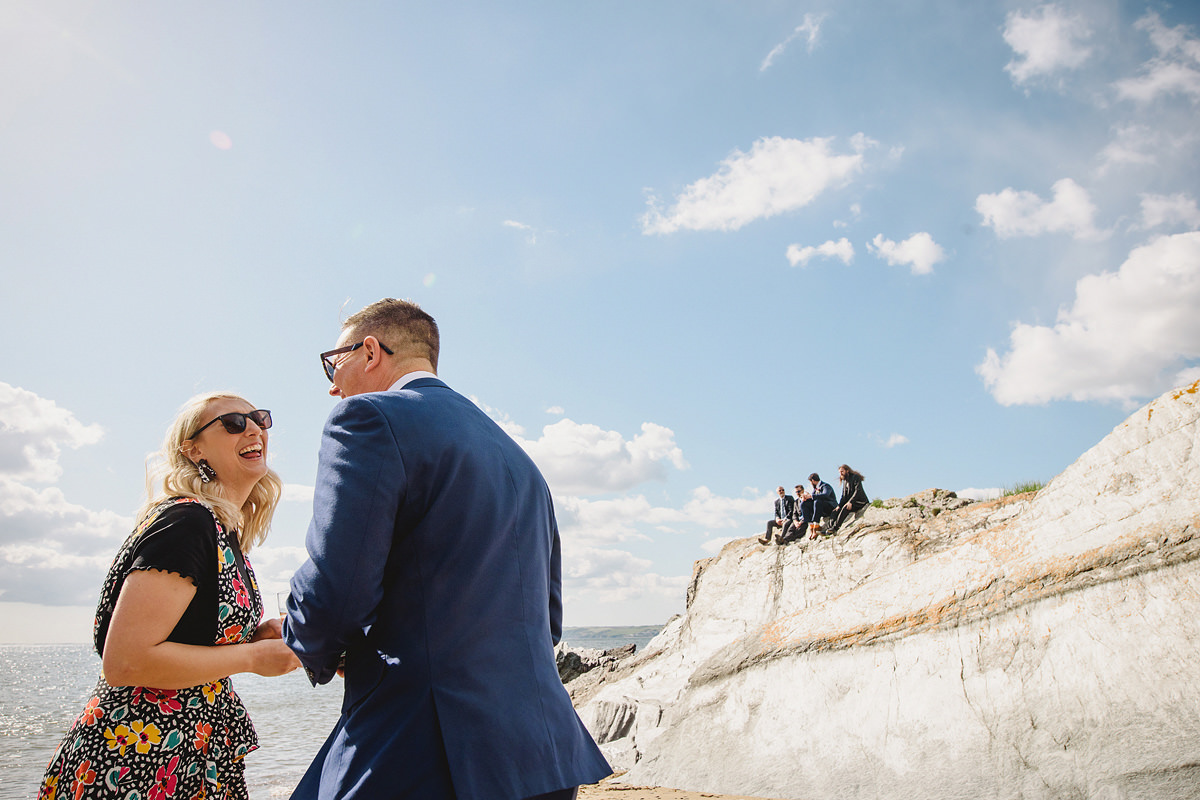 Polhawn Fort beach wedding photo